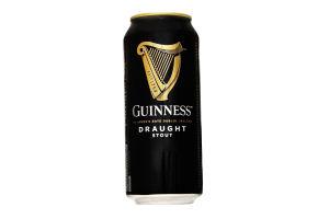 Пиво 0.44л 4.1% темное Guinness Draught ж/б