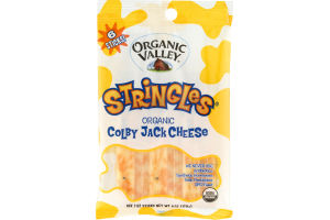 Organic Valley Stringles Organic Colby Jack Cheese - 6 CT