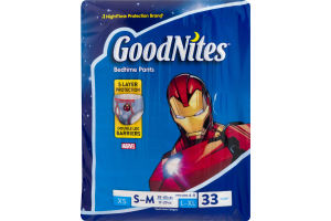 GoodNites Marvel Bedtime Pants S-M - 33 CT