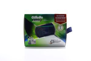 Бритва Gillette Mach3 Sensitive + гель д/гоління + косметичк