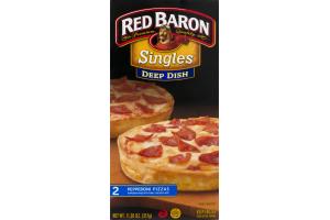 Red Baron Singles Deep Dish Pepperoni Pizza - 2 CT
