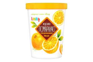 Мороженое со вкусо-ароматическим наполнителем Апельсин Помаранчо Laska ведро 500г
