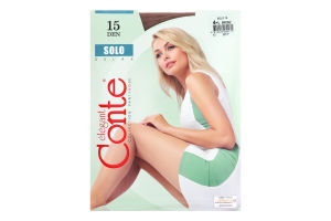 Колготки жіночі Conte Solo №17С-89СП 15den 4-L bronz