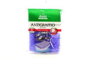 Губка Domi Antigraffio кухонная деликат 2шт арт.7175DI