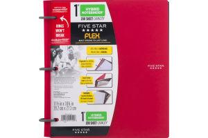 "Mead Five Star Flex 1"" Hybrid Notebinder 200 Sheet Capacity"