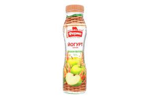 Йогурт 1.5% питний Злаки-яблуко Ферма п/пл 250г