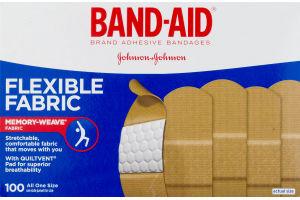 Band-Aid Adhesive Bandages Flexible Fabric One Size - 100 CT