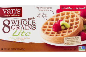 Van's 8 Whole Grains Lite Waffles - 6 CT