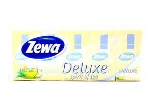 Платочки бумажные 21х21см 3-х слойные Аромат чая Deluxe Zewa 10х10шт