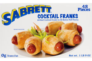 Sabrett Cocktail Beef Franks in All Butter Puff Pastry - 48 PCS