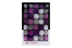 Електрогірлянда №NS-35LI Бавовняні кульки Cotton ball lights 1шт