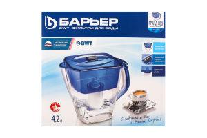 Фільтр-глечик для очищення води ультрамарин 4.2л Гранд Нео Барьер 1шт