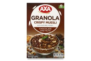 Мюслі хрусткі медові з шоколадом і горіхами Axa к/у 270г