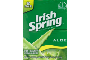 Irish Spring Deodorant Soap Aloe - 8 CT