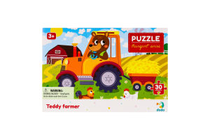 Пазл для детей от 3лет 27х20см №300371 Teddy farmer Transport series Dodo 30эл
