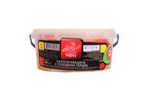 Капуста квашена з солодким перцем Чудова марка п/у 400г