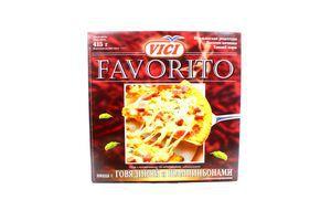 Пицца с говядиной и шампиньонами Favorito Vici 415г