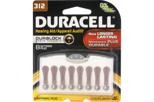 Duracell Hearing Aid Batteries 312 - 8 CT