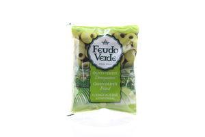 Оливки без косточки консервированные пастеризированные Feudo Verde 170г