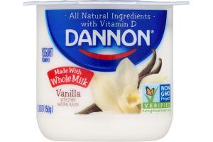 Dannon Whole Milk Yogurt Vanilla