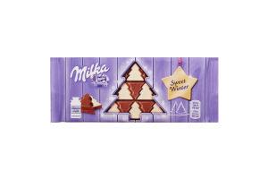 Шоколад молочный с белым шоколадом в виде елочек Sweet Winter Milka м/у 100г