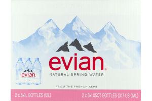 Evian Natural Spring Water - 2 PK