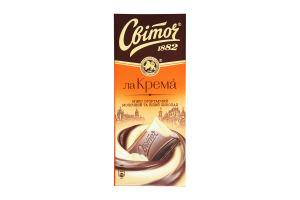 Шоколад Молочний та Білий Ла Крема СВІТОЧ 90г