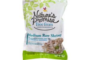 Nature's Promise Peeled & Deveined, Tail On Raw Shrimp Medium