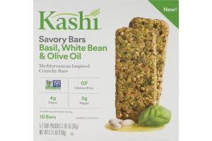 Kashi Savory Bars Basil, White Bean & Olive Oil - 10 CT