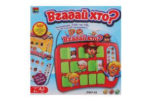 Гра настільна для дітей 3років №JT007-43 Вгадай хто? Kingso Toys 1шт