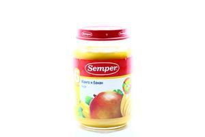 Пюре для детей от 6мес Манго и банан Semper с/б 190г