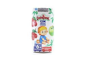 Сок яблоко-клюква Спеленок т/п 0,2л
