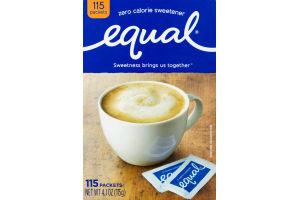 Equal 0 Calorie Sweetener Packets Original - 115 CT