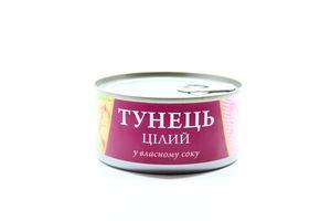 Тунец целый в собственном соку Fish Line ж/б ключ 185г