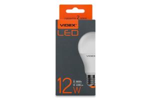 Лампа світлодіодна 3000K 1200lm 12W E27 A60e Videx 1шт