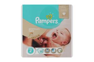 Підгузники дитячі 3-6кг New baby Premium care Pampers 22шт