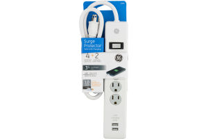 GE Surge Protector 4 Outlets 2 USB Ports