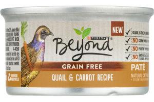 Purina Beyond Grain Free Pate Natural Cat Food Quail & Carrot Recipe