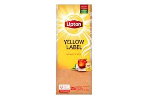 Чай черный байховый в пакетиках Yellow Label Lipton к/у 25х1.8г