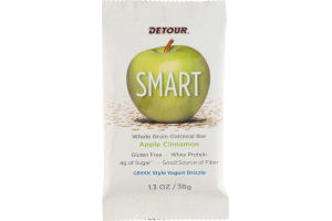 Detour SMART Whole Grain Oatmeal Bar Apple Cinnamon