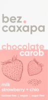 Шоколад молочний з керобу Strawberry+Chia bezСахара к/у 90г