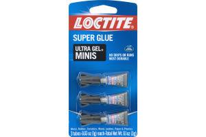 Loctite Super Glue Ultra Gel Minis - 3 CT
