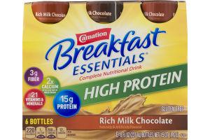 Carnation Breakfast Essentials Complete Nutritional Drink High Protein Rich Milk Chocolate - 6 CT