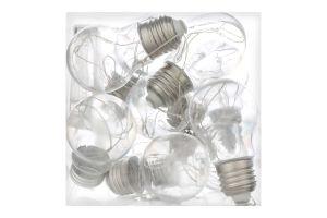 НР Електрогірлянда LED Лампочки 10ламп 1,5м 220В 50Гц
