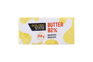 Масло 82% сливочное Golden White м/у 250г