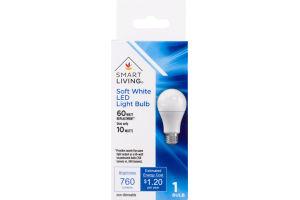 Smart Living Soft White LED Light Bulb 60 Watt