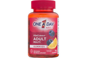 One A Day Adult VitaCraves Multi Gummies - 70 CT