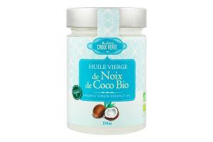 Масло кокосовое нерафинированное органическое Virgin Huilerie Croix Verte с/б 314мл