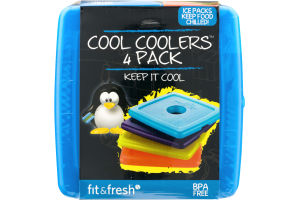 Fit & Fresh Cool Coolers BPA Free 4 Pack