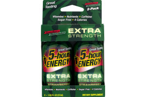 5-Hour Energy Extra Strength Dietary Supplement Strawberry Watermelon - 2 PK